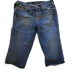 a.n.a Blue Crop Capri Jeans Size 8